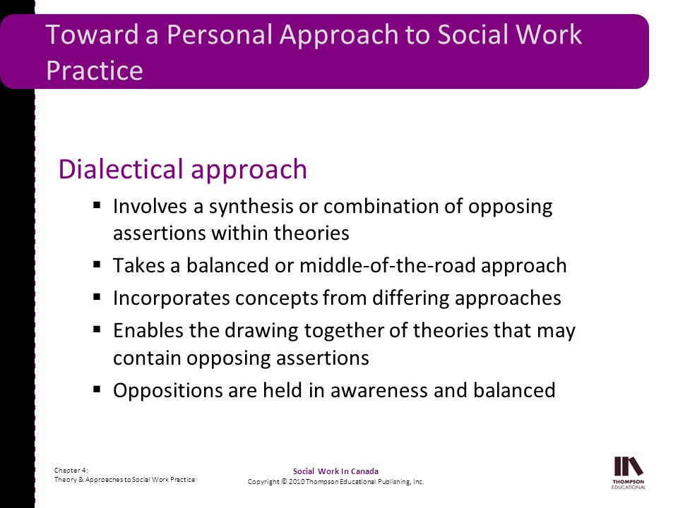 Toward a Personal Approach to Social Work Practice
