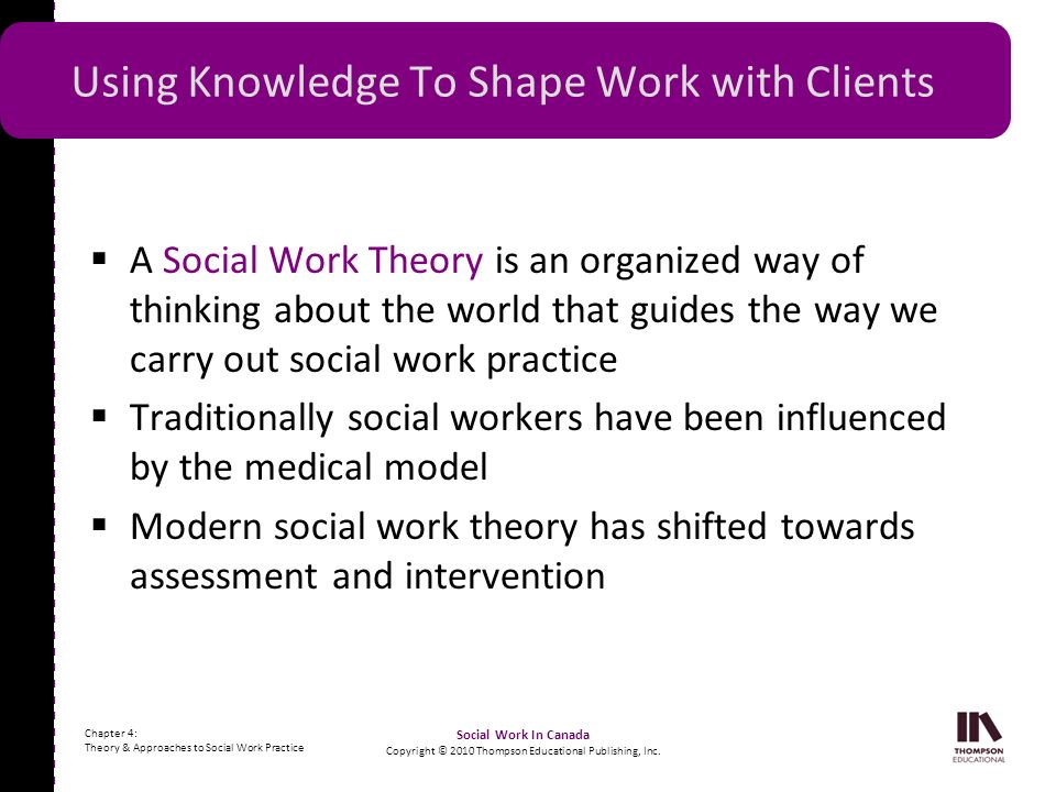 Using Knowledge To Shape Work with Clients
