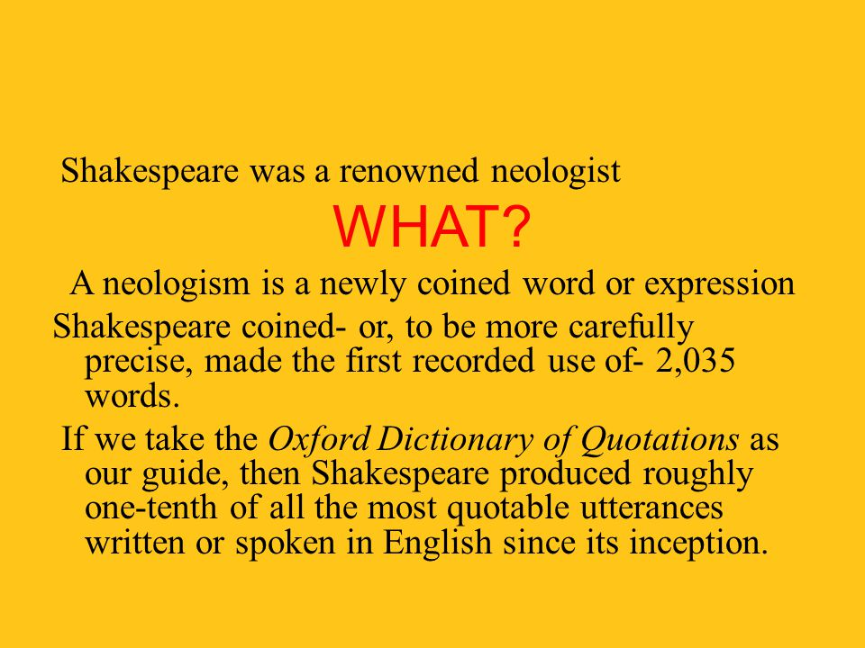 A neologism is a newly coined word or expression