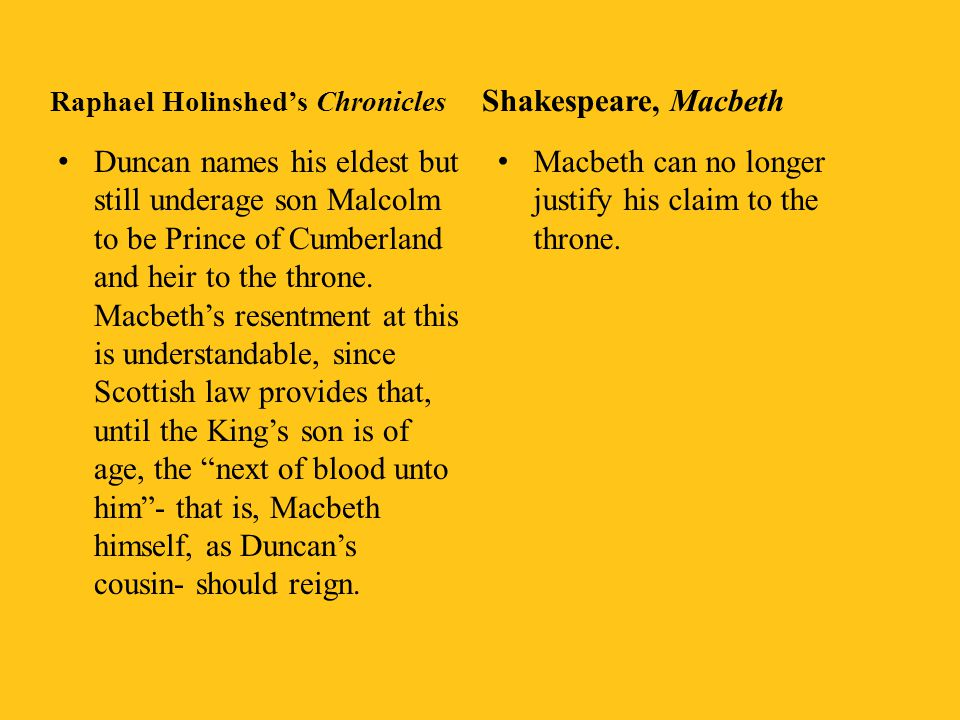 Macbeth can no longer justify his claim to the throne.