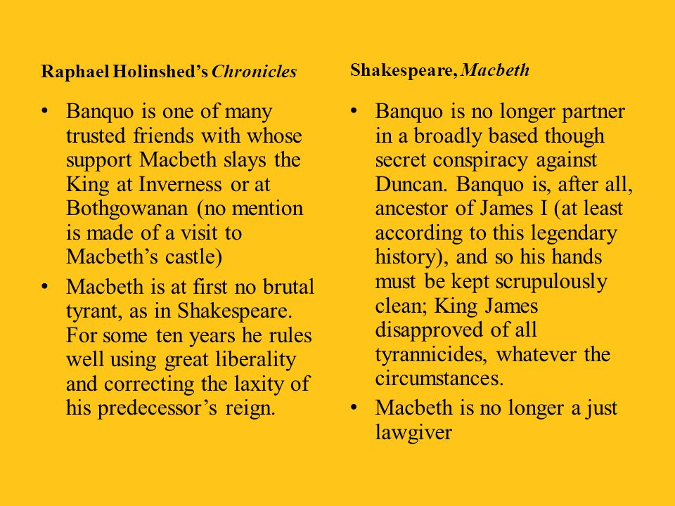 Macbeth is no longer a just lawgiver