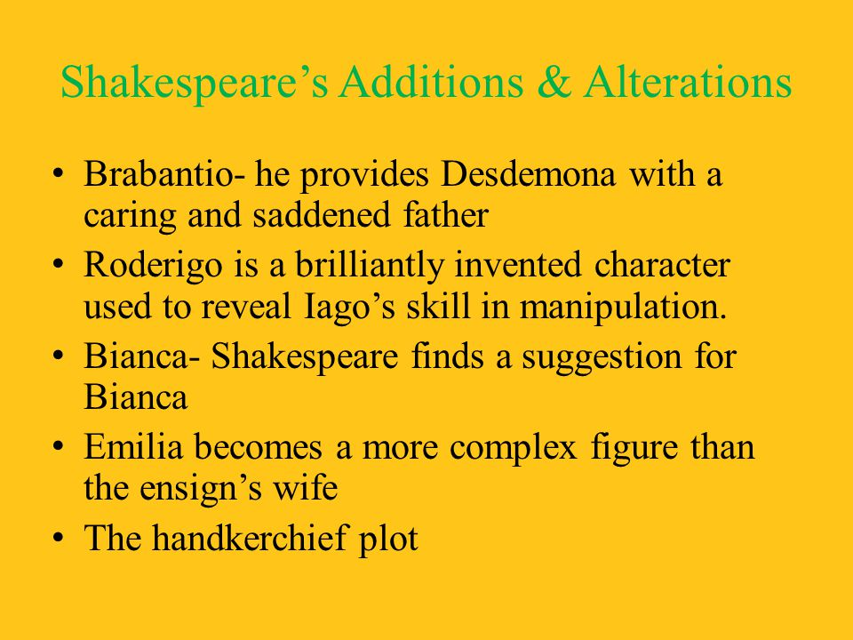 Shakespeare's Additions & Alterations