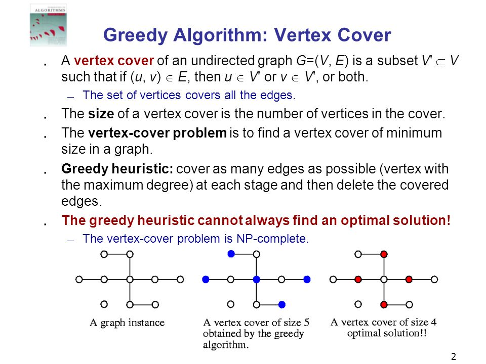 Greedy Algorithm: Vertex Cover