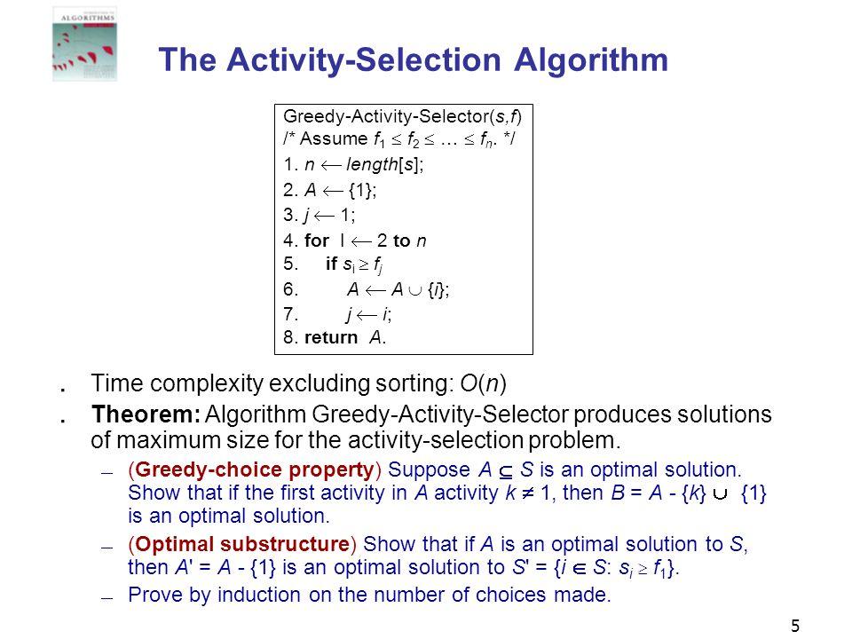 The Activity-Selection Algorithm