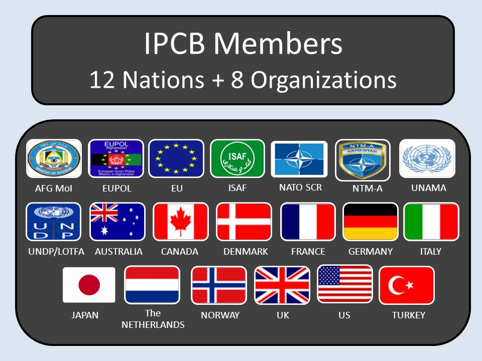 12 Nations + 8 Organizations