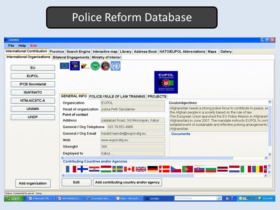 Police Reform Database