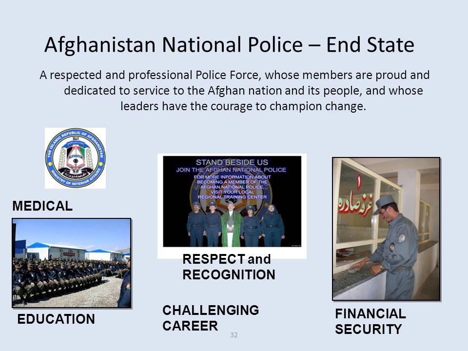 Afghanistan National Police – End State
