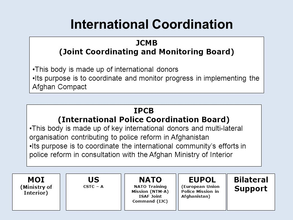 (Joint Coordinating and Monitoring Board)