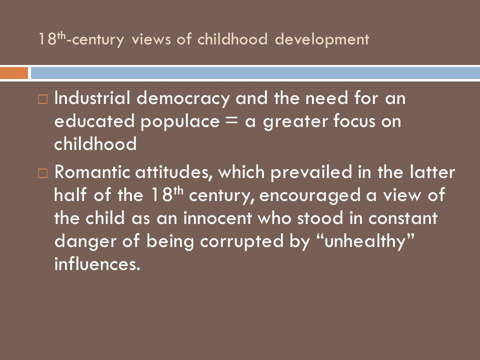 18th-century views of childhood development