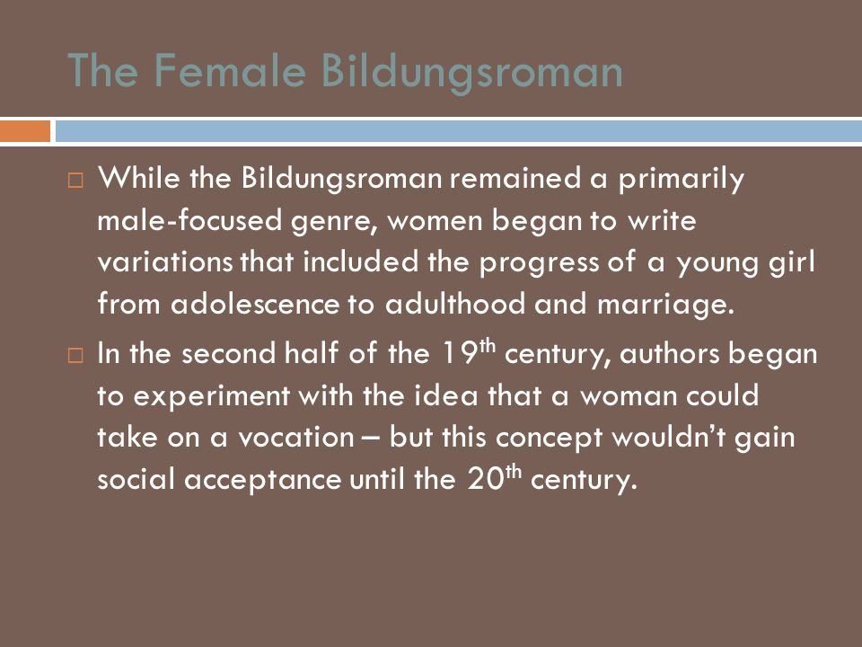 The Female Bildungsroman