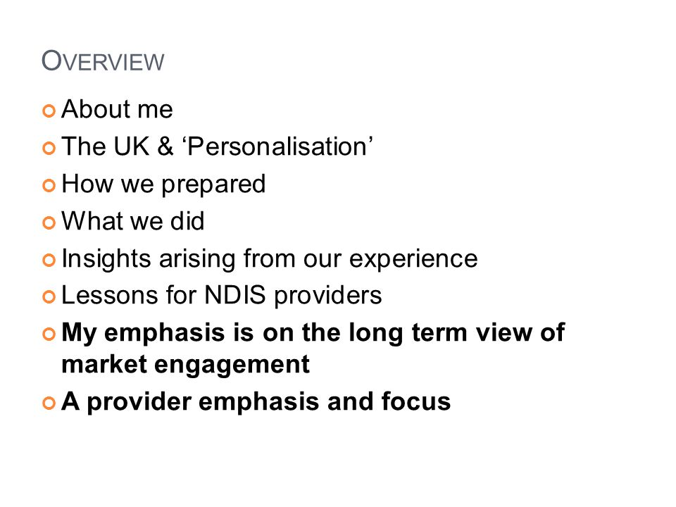 Overview About me The UK & 'Personalisation' How we prepared