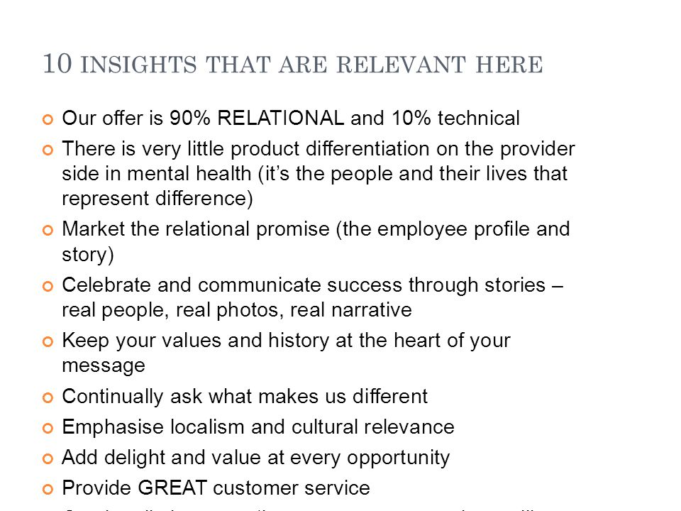 10 insights that are relevant here