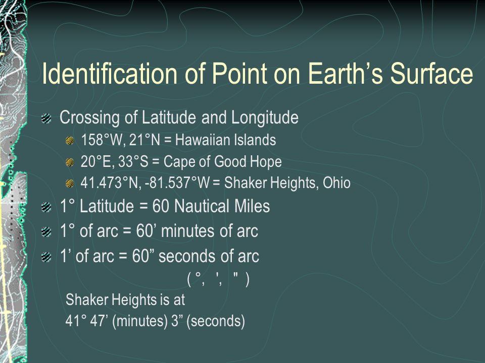 Identification of Point on Earth's Surface