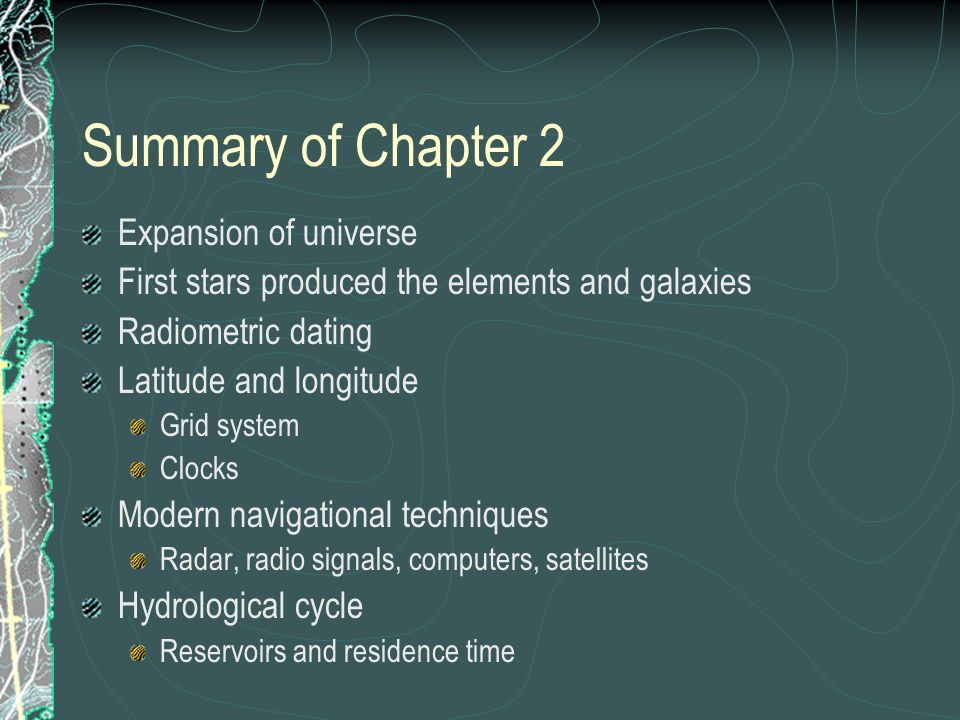 Summary of Chapter 2 Expansion of universe