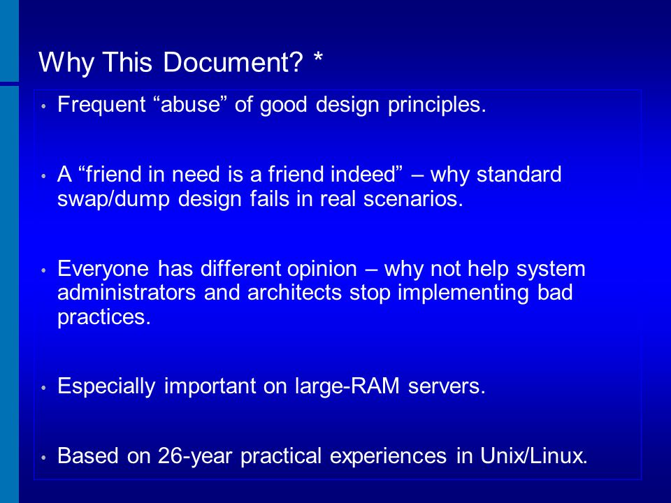 Why This Document * Frequent abuse of good design principles.