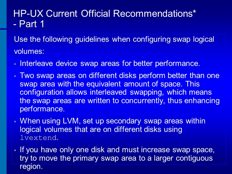 HP-UX Current Official Recommendations* - Part 1