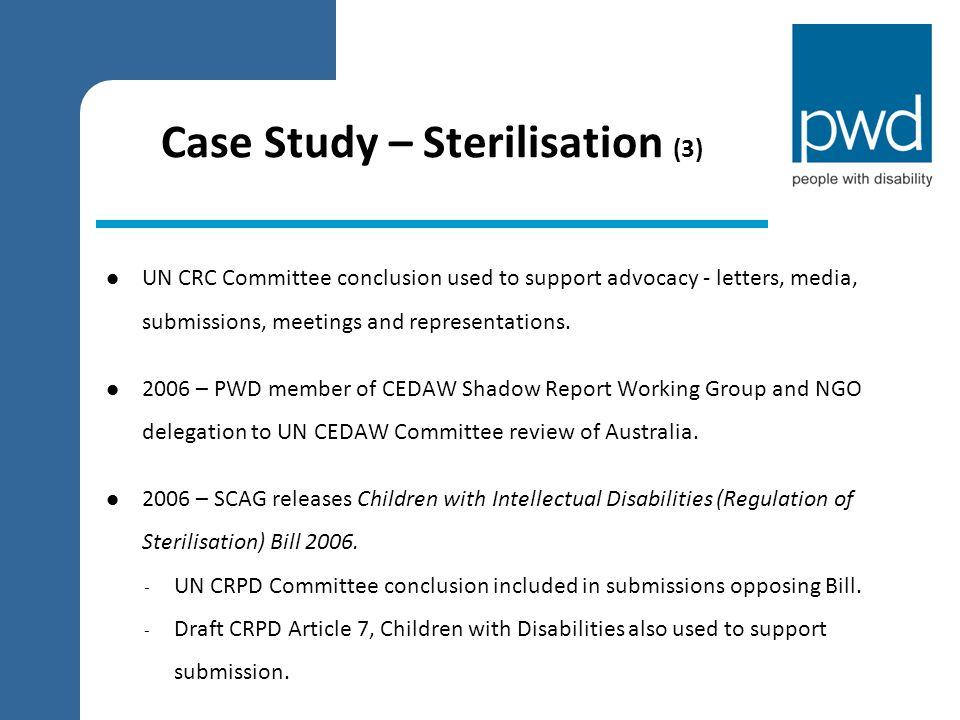 Case Study – Sterilisation (3)
