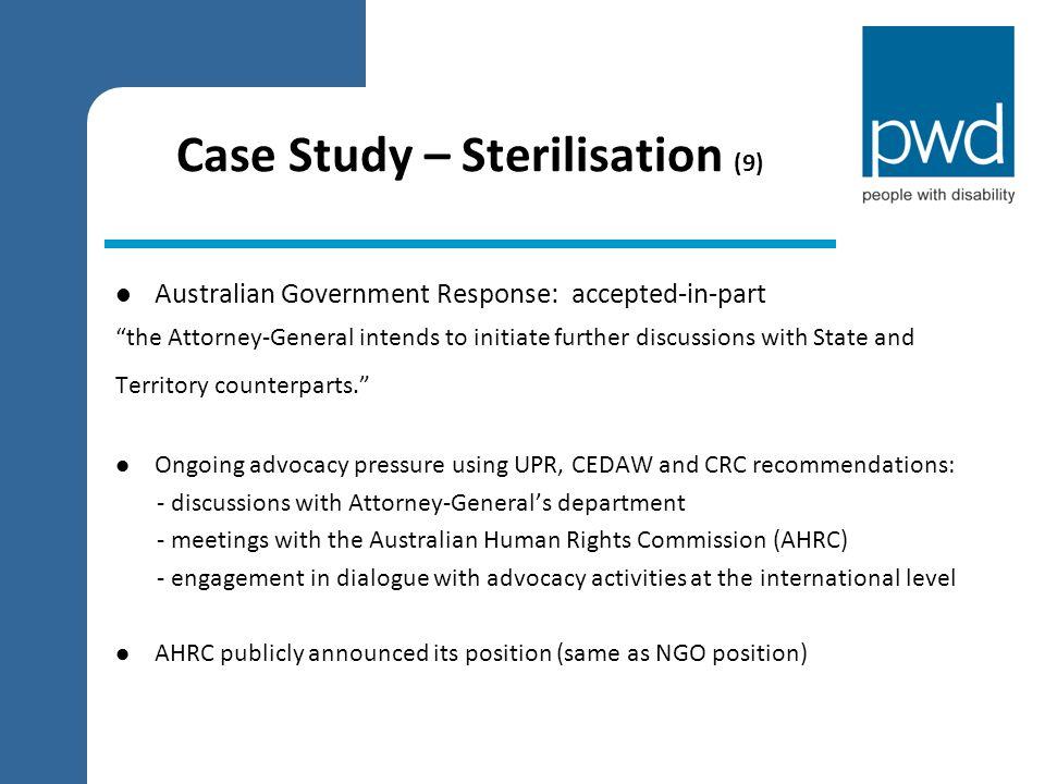 Case Study – Sterilisation (9)