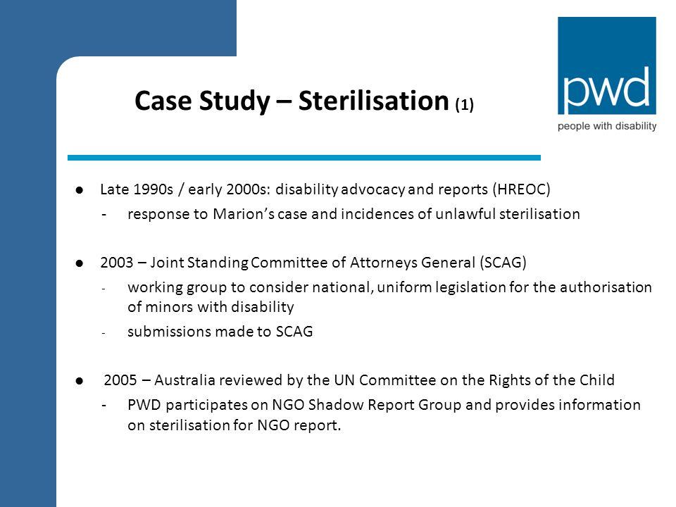 Case Study – Sterilisation (1)