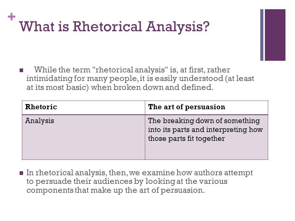 What is Rhetorical Analysis