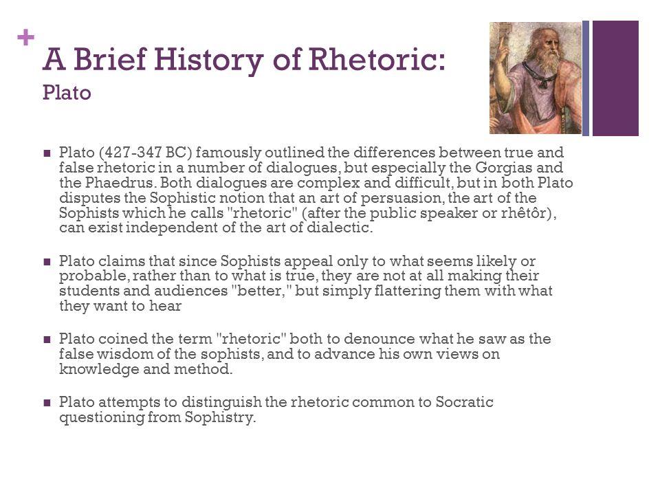 A Brief History of Rhetoric: Plato