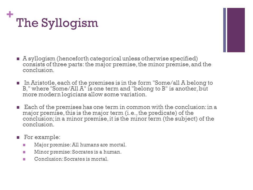 The Syllogism