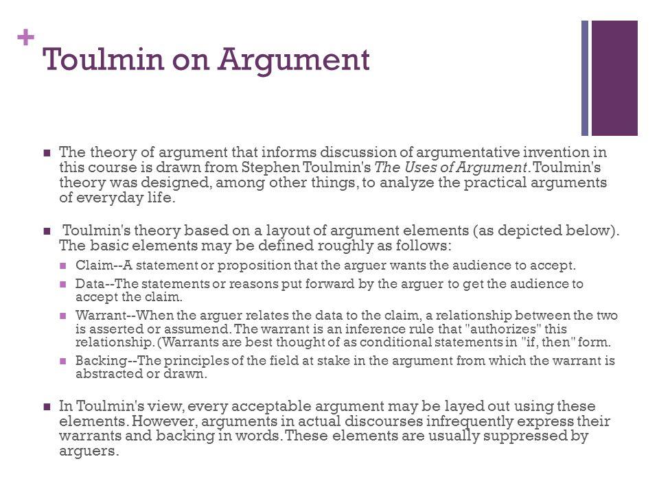 Toulmin on Argument