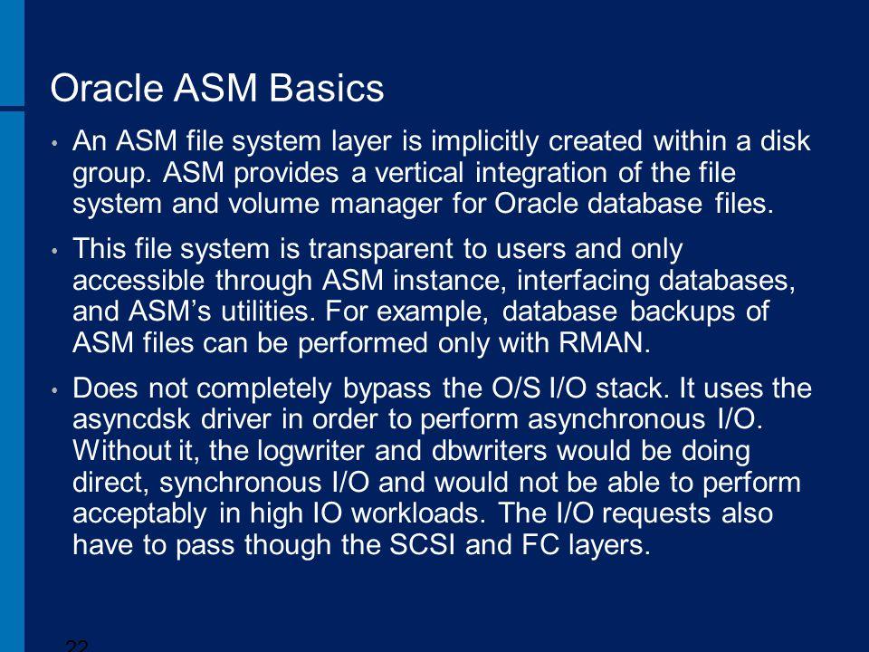 Oracle ASM Basics