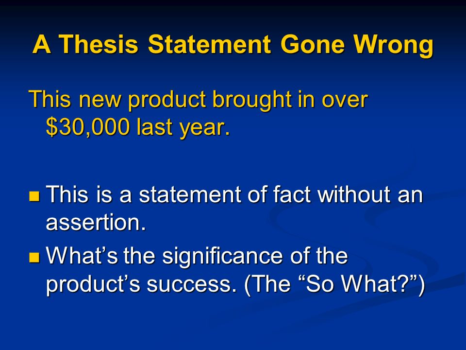 how to write a complete thesis statement