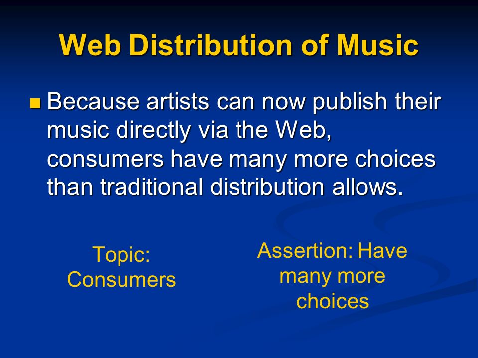 Web Distribution of Music