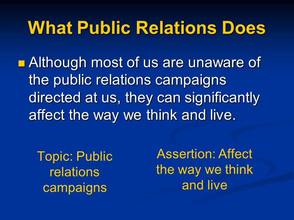 What Public Relations Does