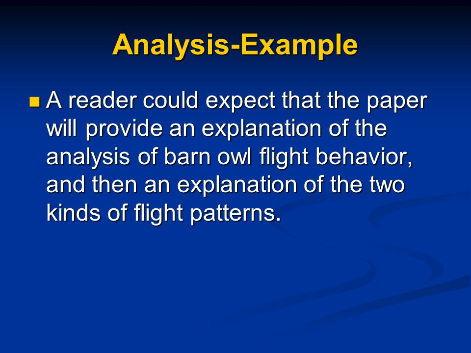 Analysis-Example