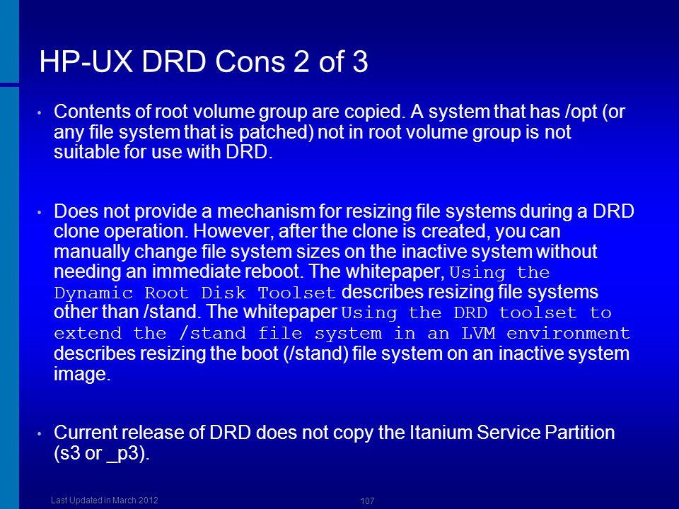 HP-UX DRD Cons 2 of 3 Dusan Baljevic.