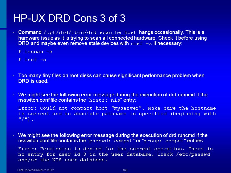 HP-UX DRD Cons 3 of 3 Dusan Baljevic.