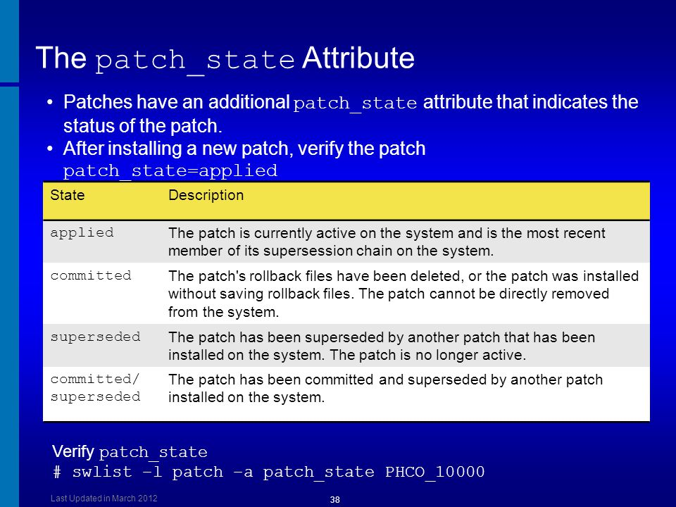 The patch_state Attribute