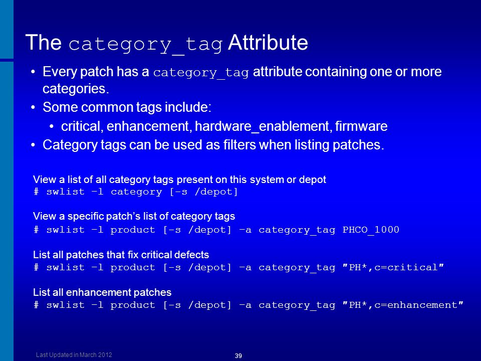 The category_tag Attribute