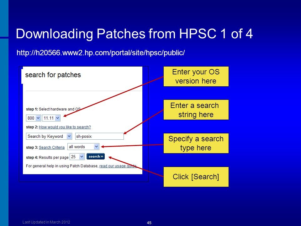 Downloading Patches from HPSC 1 of 4