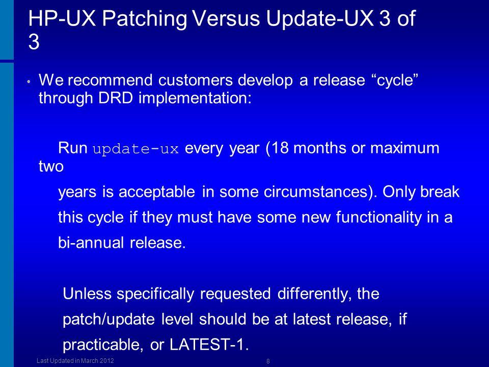 HP-UX Patching Versus Update-UX 3 of 3