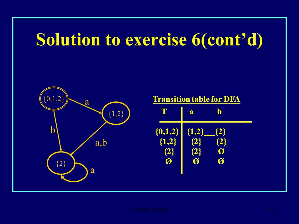 Solution to exercise 6(cont'd)