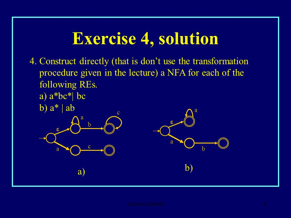 Exercise 4, solution