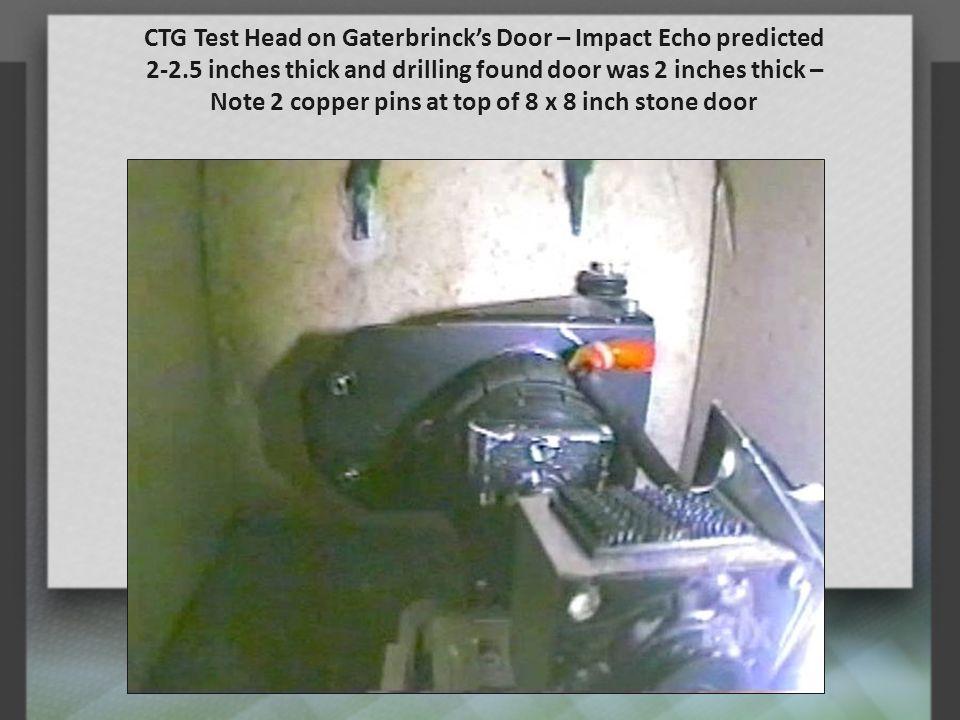 CTG Test Head on Gaterbrinck's Door – Impact Echo predicted