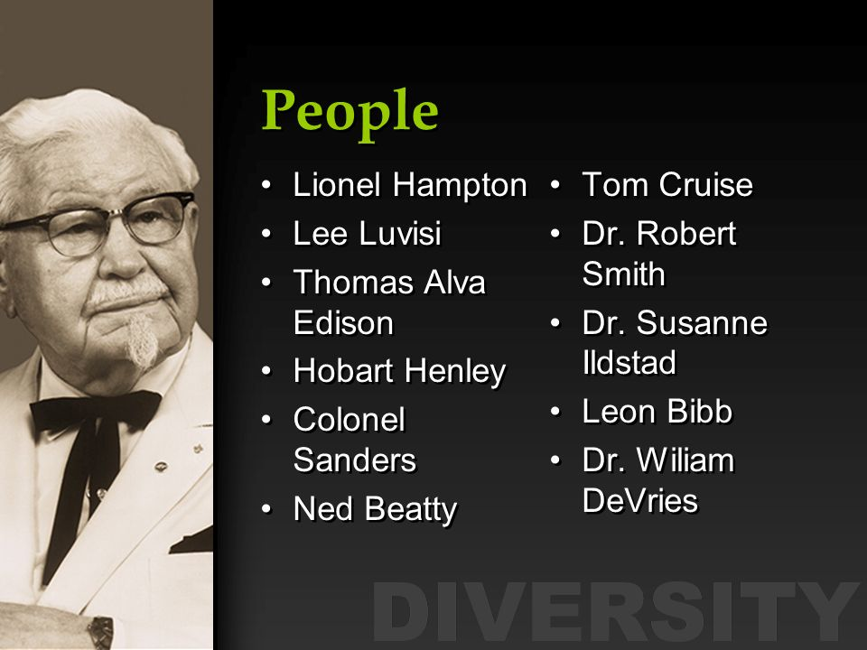 People Lionel Hampton Lee Luvisi Thomas Alva Edison Hobart Henley