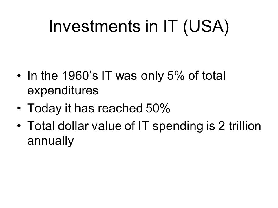Investments in IT (USA)