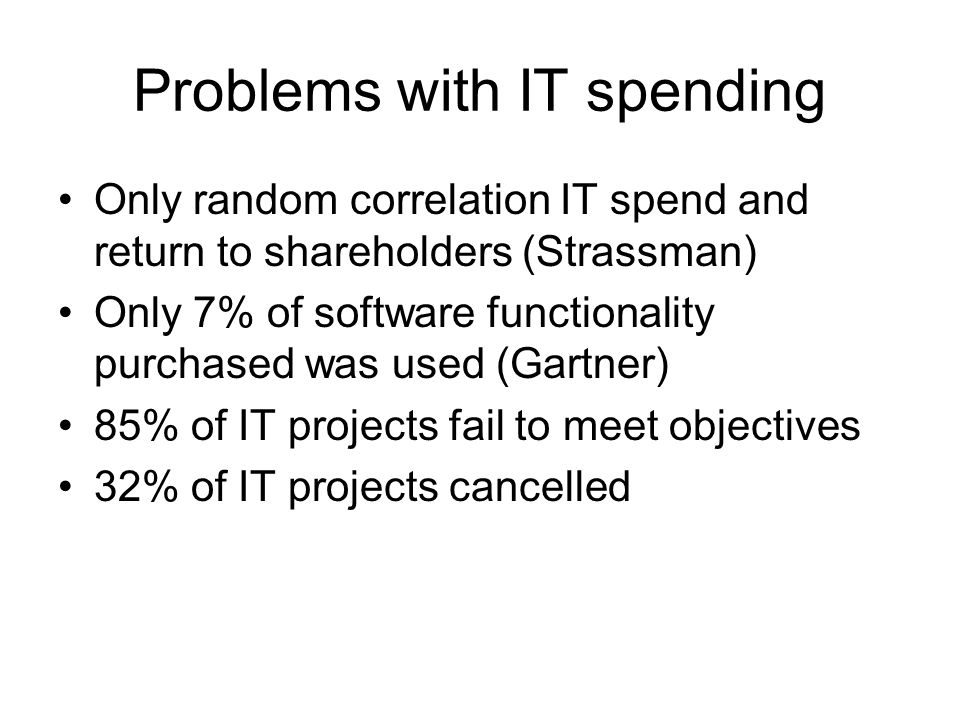 Problems with IT spending