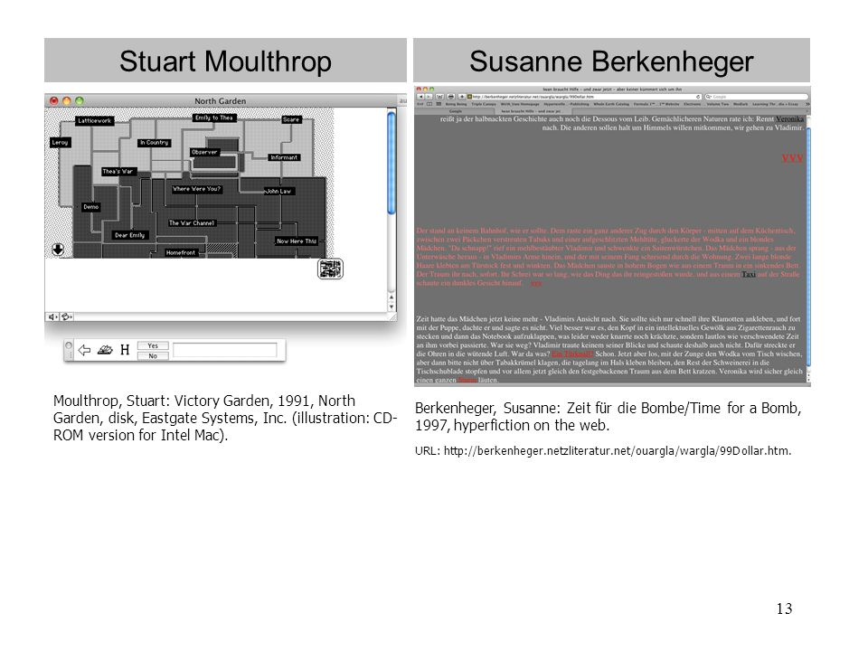 Stuart Moulthrop Susanne Berkenheger