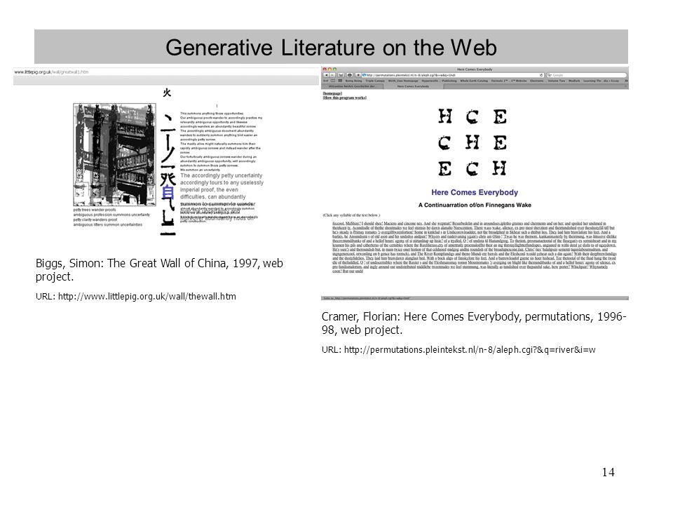 Generative Literature on the Web