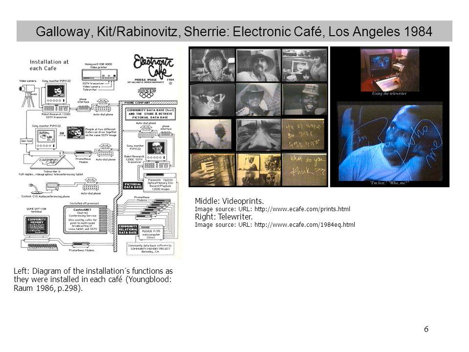 Galloway, Kit/Rabinovitz, Sherrie: Electronic Café, Los Angeles 1984