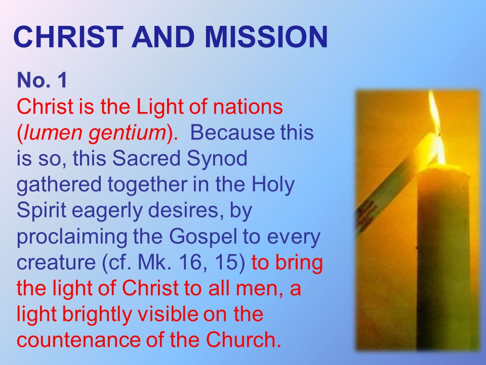 CHRIST AND MISSION No. 1.