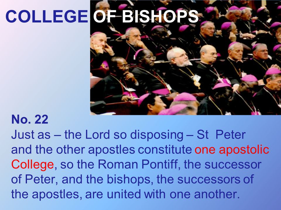 COLLEGE OF BISHOPS