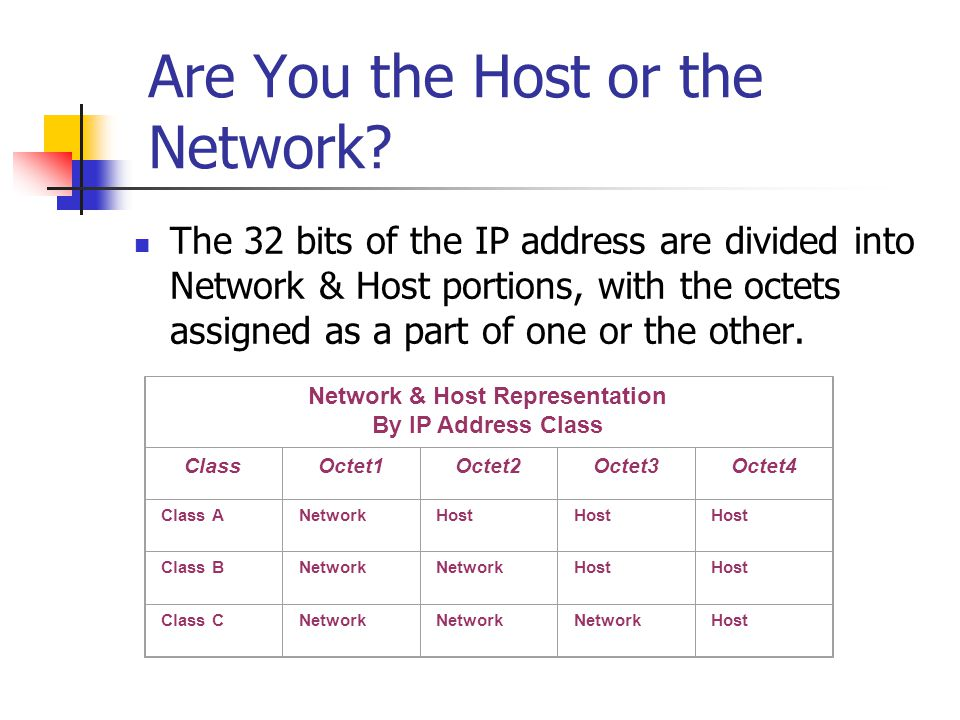 Are You the Host or the Network